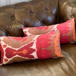 2 Pottery Barn Outdoor Lumbar Pillows